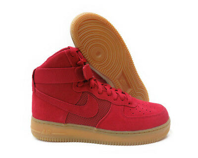 size 40 c567a 8b515  806403-601  NIKE AIR FORCE 1 HIGH 07 LV8 GYM RED MEN SNEAKERS