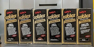 KELLY'S  Fiebing's Leather or Suede Dye w/ Applicator US Made 4oz Bottles USA