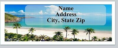 30 Personalized Return Address Labels Scenic Beach Buy 3 get 1 free (c 782)