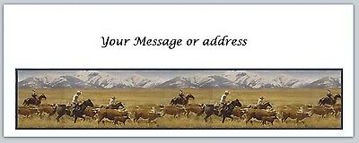 30 Personalized Western Horses Return Address Labels Buy 3 get 1 free (bo 177)