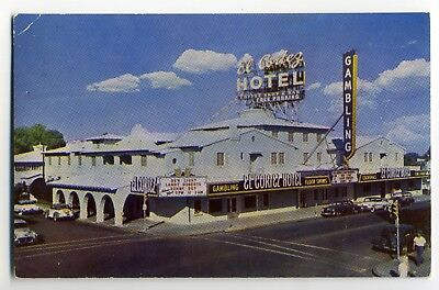 Early Gambling  El Cortez Hotel  Postcard Las Vegas, Nevada