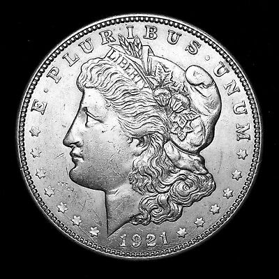 1921 D ~**ABOUT UNCIRCULATED AU**~ Silver Morgan Dollar Rare US Old Coin! #162