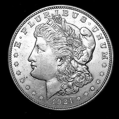 1921 D ~**ABOUT UNCIRCULATED AU++**~ Silver Morgan Dollar Rare US Old Coin! #191