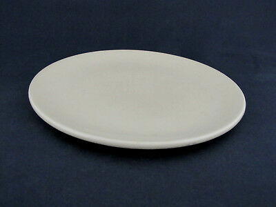 "Dinner Plate in Satin Ivory by Catalina Island Pottery, 10 1/8"" diameter"