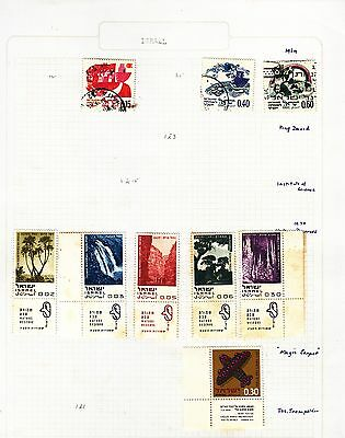ISRAEL  on album page stamps removed for shipping(a)