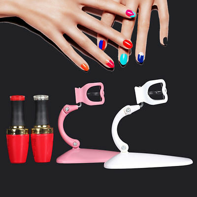 Adjustable Hand Free Manicure Nail Polish Bottle Holder Display Stand Tool