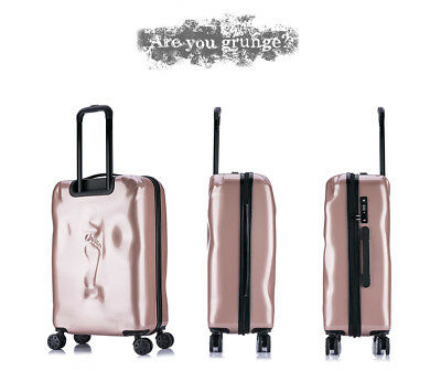 E935 Rose Gold Coded Lock Universal Wheel Travel Suitcase Luggage 20 Inches W