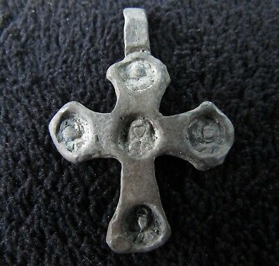 Great Templar - Knights Silver Cross c. 1400 AD  Rare Relic  (830+)