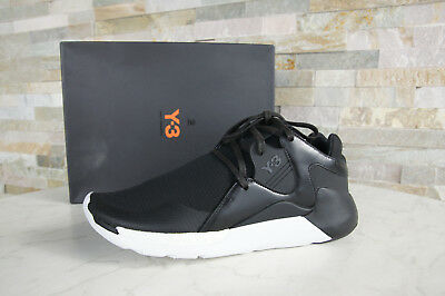 d9e595500 Y3 Y-3 Adidas Yamamoto 44 UK 10 Sneakers Shoes Qr Run Black New Previously