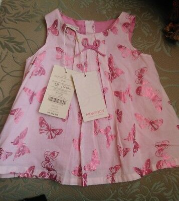 Rrp £22.00  MONSOON 6-12mth pink Baby Dress