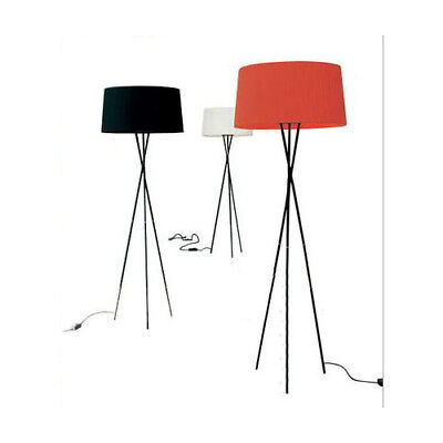 E74 Modern E27 Red Height 160CM Metal+Fabric Living Room Bedroom Floor Lamp