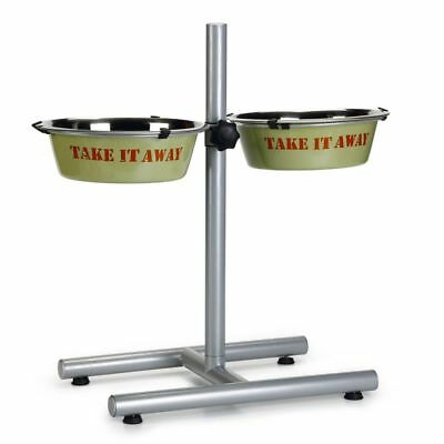 Beeztees Cuenco Comedero Doble para perros con Soporte Take It Away 25 cm 653587