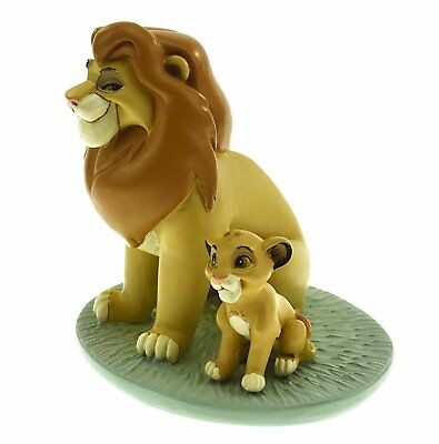 NEW Disney Mufasa Simba My Daddy Is King Ornament Figurine Lion Child Boxed Gift