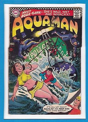 "Aquaman #33_June 1967_Vg/f_""aqualad & Aqua-Girl Go Crazy""_Silver Age Dc!"