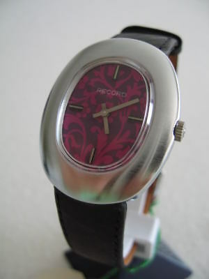 Nos New Swiss Mechanical Hand Winding Vintage Men's Record-Longines Watch 1960'