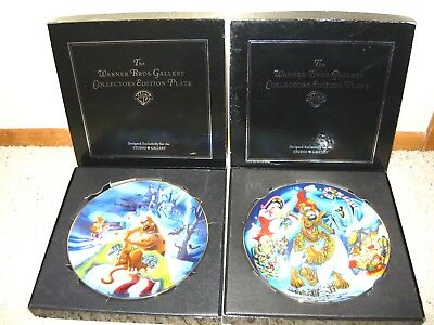 Warner Bros Studio Store Scooby Doo Decorative Plate Set Lot Of 2 W/ Boxes