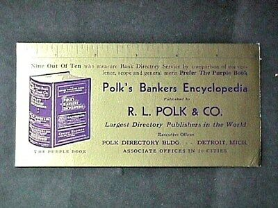 RL Polk & Co Directory PublishersCollectible Advertising Blotter