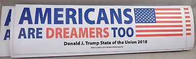 WHOLESALE LOT OF 14 AMERICANS ARE DREAMERS TOO TRUMP MAGNET 2020 USA FLAG auto