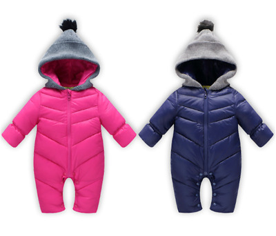 624659c86 TODDLER SOFT BABY Girl s Boy s Down Snow Suit One Piece Size 6 12 18 ...