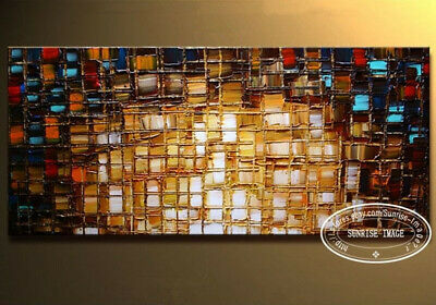 P759 Modern Palette Knife Textured Abstract Oil Painting on canvas /No Frame