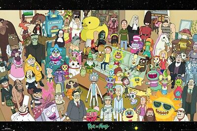 Rick And Morty - Tv Show Poster / Print (The Complete Rick & Morty Cast)