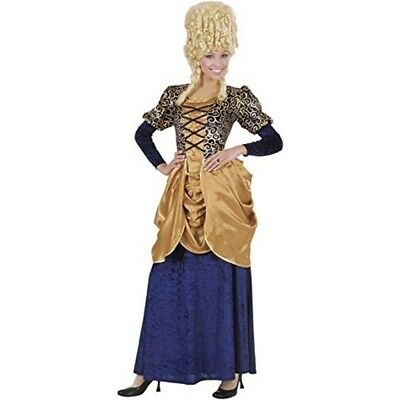Ladies Blue Marquise Dress Costume Small Uk 8-10 For Regency 17th 18th Century