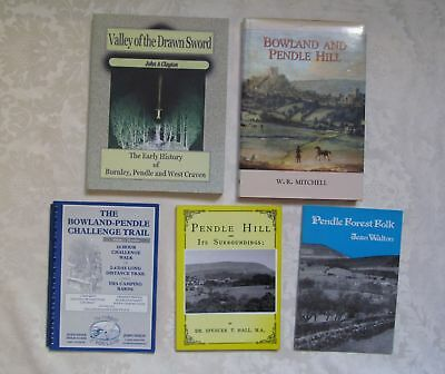 Pendle Hill & Bowland Area. Lancashire 5 x Books Job Lot Collection. History etc
