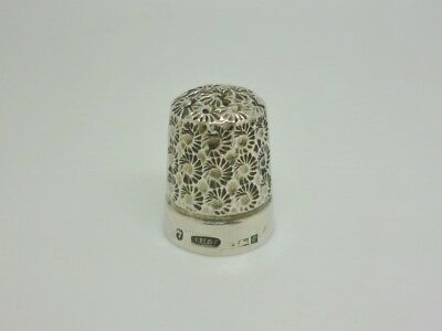 Vintage Joshua Horton & Son 1963 Solid Sterling Silver Thimble Size 7