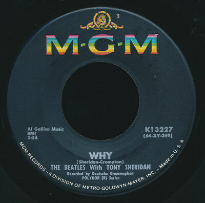 """Beatles ORIG & VERY RARE 1964 COMMERCIAL """" WHY """" MGM 45! NM!"""