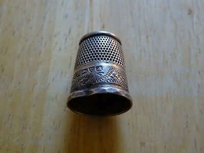 Antique Silver Thimble  Charles Horner Chester