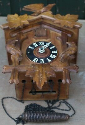 Good Looking Old Wooden Cuckoo Clock For Spares Repair