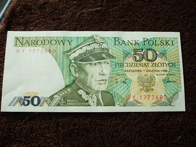 Un-circulated Bank Note Europe Poland Fifty Zlotych