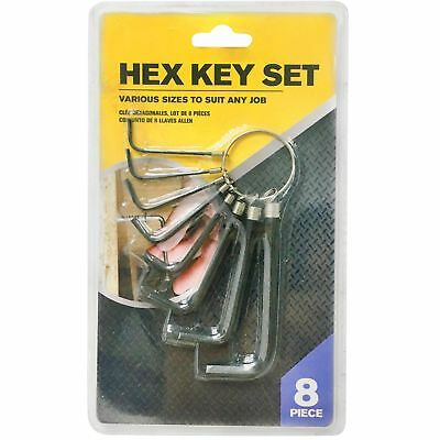 8pc Hex Key Wrench Set With Holder Allen Alan Allan AF Metric Ring