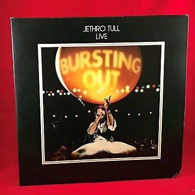 JETHRO TULL Bursting Out 1978 USA Double VINYL LP + INNER Excellent Condition  A