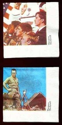 BSA Norman Rockwell Boy Scout Paper Napkins - 1 set of 4 different - circa 1990