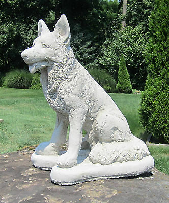 Concrete  German Shepherd Statue /memorial /pet Grave Marker