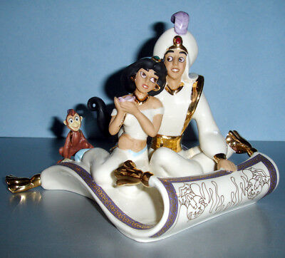 Lenox Disney Aladdin Magic Carpet Ride Figurine with Jasmine & Abu New In Box