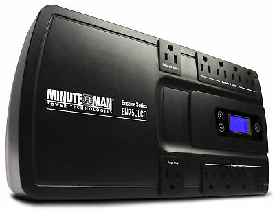 MINUTEMAN UPS EN750LCD Enspire 750Va Stand-By Ups With Lcd