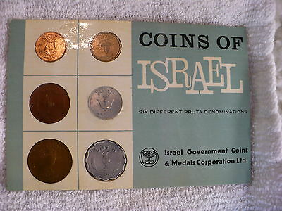 Js- Coins Of Israel 6 Different Pruta Denominations Coins (Sealed #14778