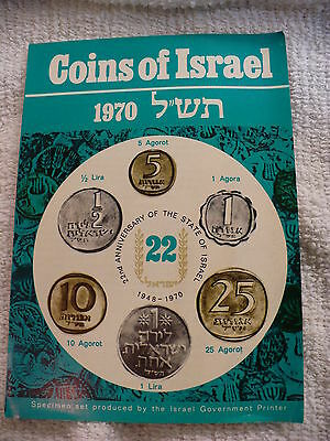 Js- 1948-1970  22Nd Anniversary  Coins Of Israel 6 Coins   (Sealed) #14781