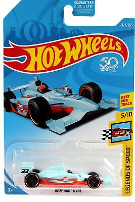2018 Hot Wheels #123 Legends of Speed Indy 500 Oval Gulf