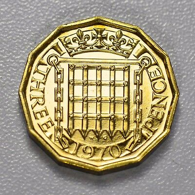 GB THREEPENCE - LAST YEAR MINTED 1970 ++ PROOF - FREE S&H! ++[fsh]