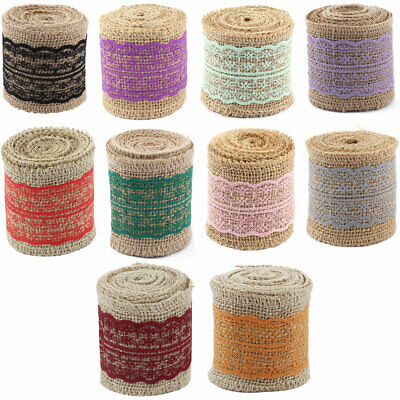 Feast Festival Burlap DIY Gift Wrapping Decorative Handcraft Ribbon Roll Tape