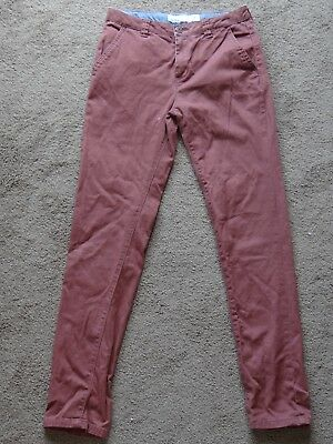 BOYS GIRLS 14 soft burgundy stretch cotton JEANS TROUSERS