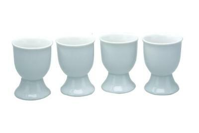 Apollo White Porcelain Set of 4 Egg Serving Cup