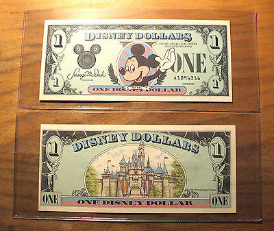 "1987 DISNEY DOLLAR - Mint Condition - $1. - Mickey - SERIES ""A"""
