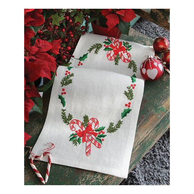 ANCHOR   Embroidery Kit: Christmas Candy -  Runner   92400003530
