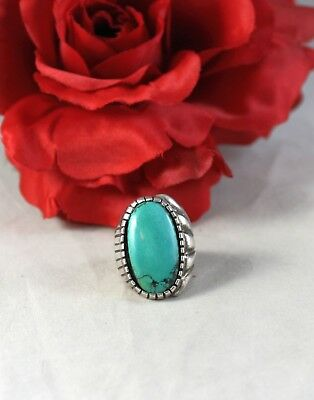Sterling Silver Turquoise  South West 18.44g Ring Size 7  CAT RESCUE