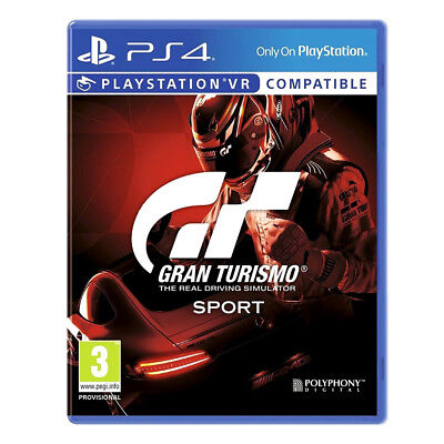 Sony Playstation 4 PS4 Grand Turismo Sport Game VR Compatible For Ages 3+