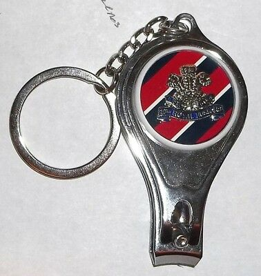 nail clippers bottle opener. The King/'s Royal Hussars keyring